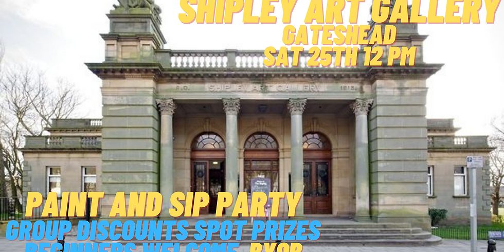 Paint and Sip Party Shipley Art Gallery