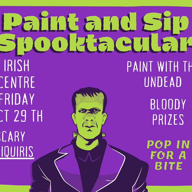 Paint and Sip Halloween Party The Irish Centre Newcastle