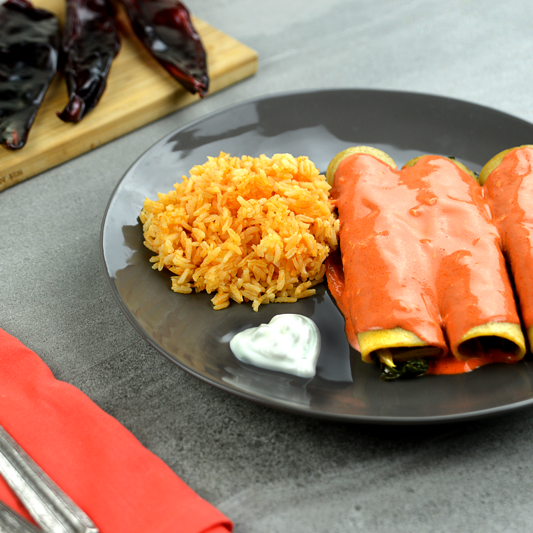 Creamy-red-Enchiladas