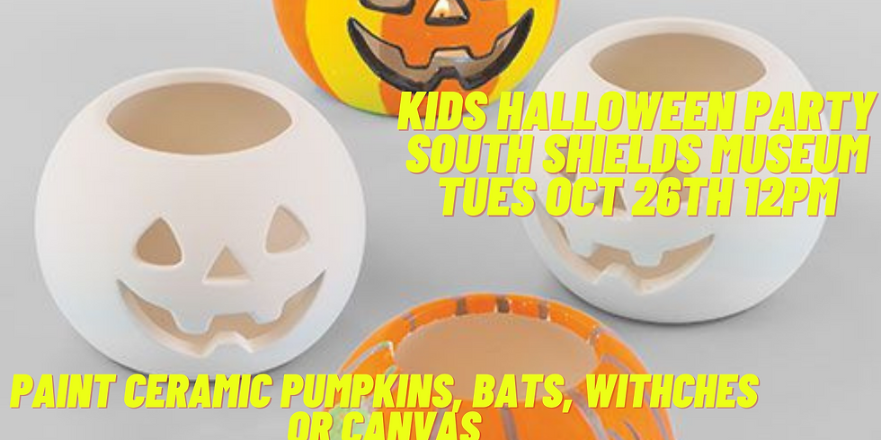 Paint and Sip Kids Halloween South Shields Museum