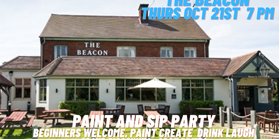 Paint and Sip Party The Beacon Whitley Bay