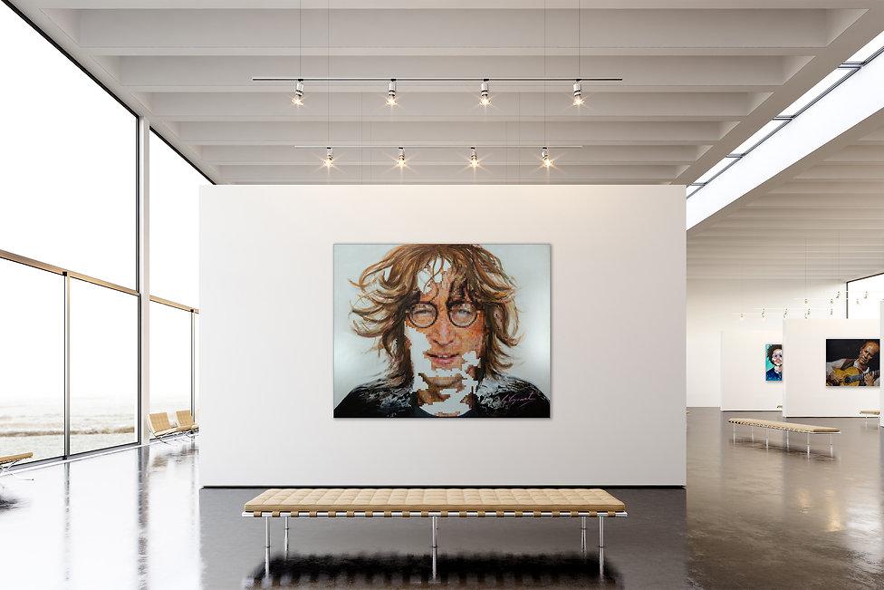 John Lennon Portrait by Africa Aycart