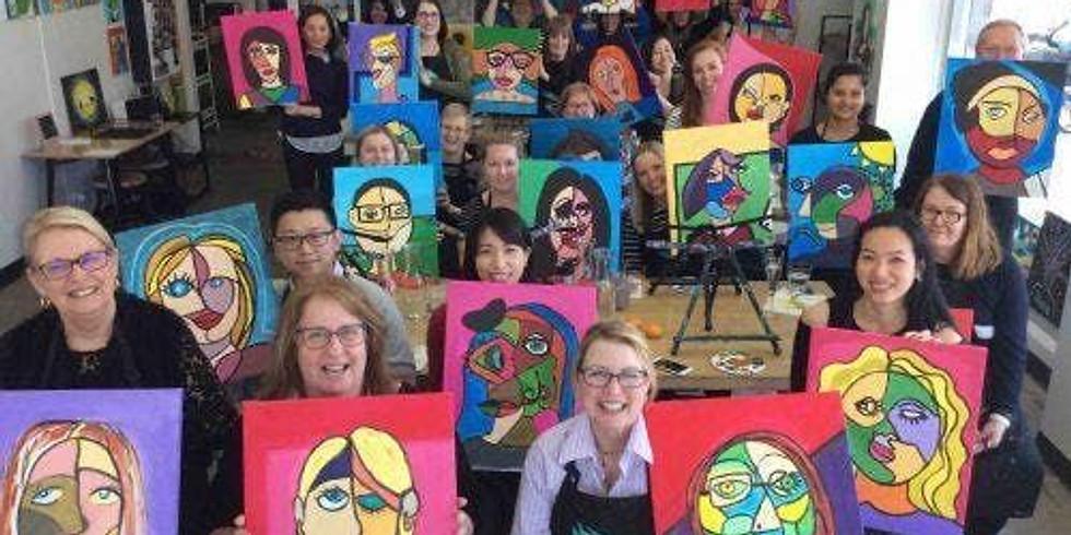 Picasso Selfie Portrait Paint Party Gosforth All Saint's Church