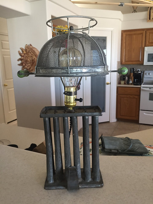 Candle Mold Green Strainer Lamp