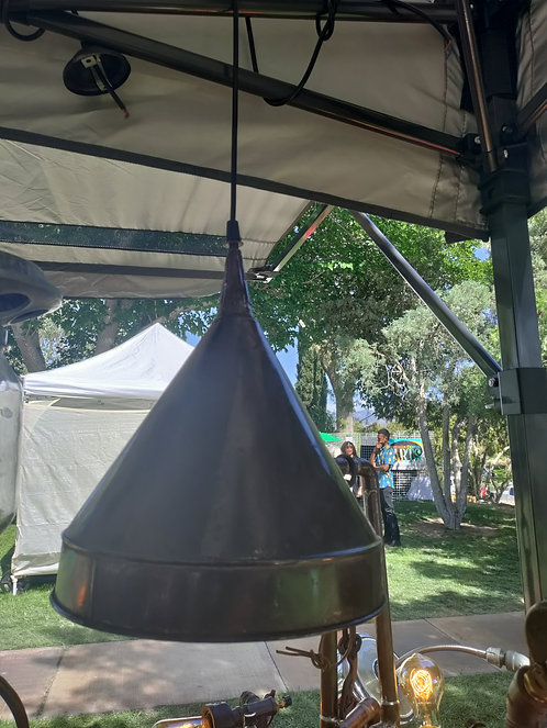 Old Copper Funnel Hanging Light