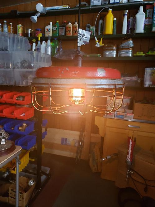 Red Chicken Feeder Lamp
