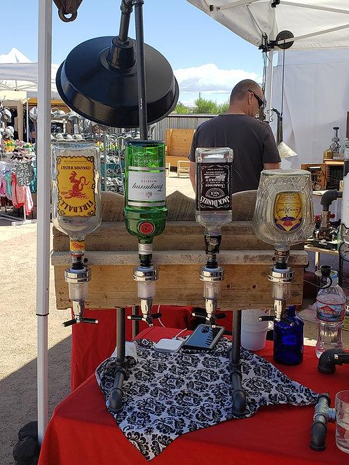 Whiskey Dispenser With Four Shot Taps