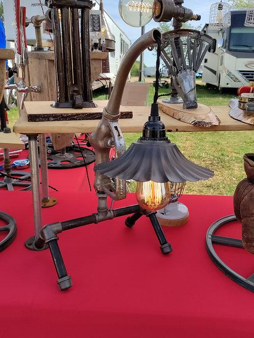 Gas Pump Lamp with Metal Shroud