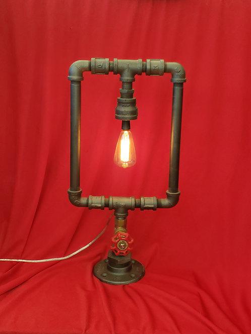 Square pipe lamp