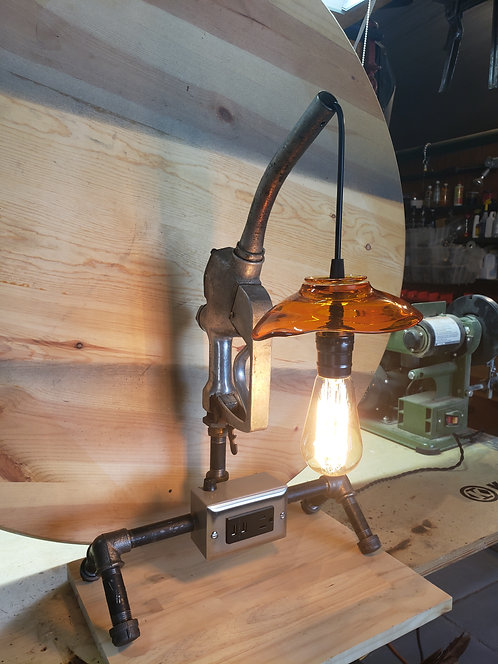 Gas Pump Lamp