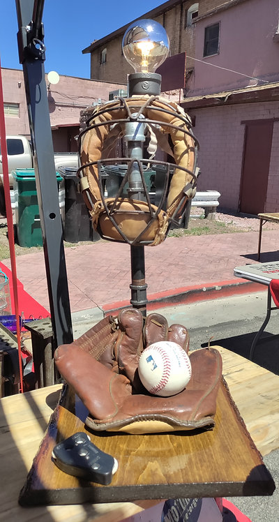 Baseball Lamp Rare Glove and Mask