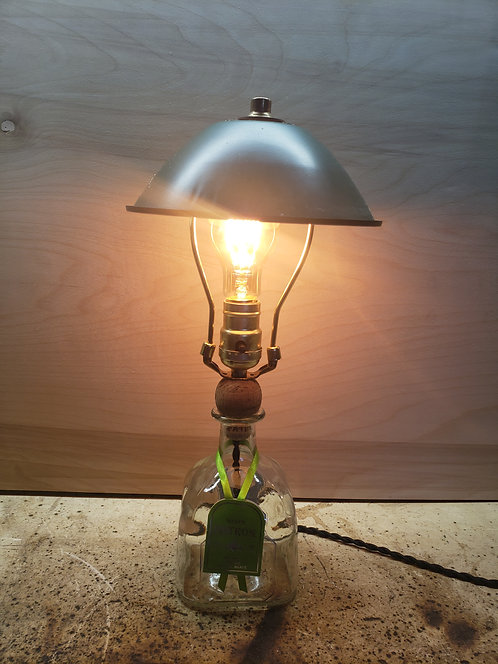 Patron Lamp with green shade