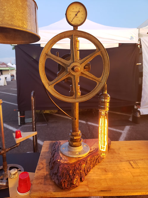 Large Pulley Lamp