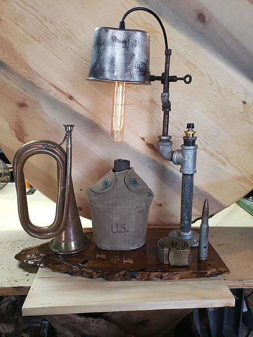 Military Lamp with cup