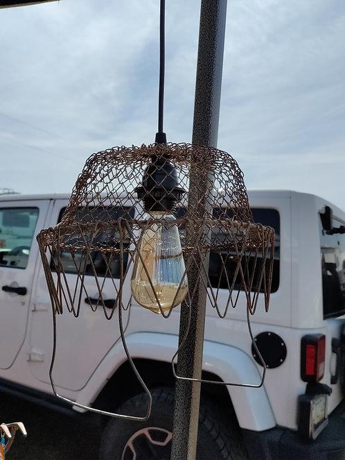Fryer Basket Hanging Light