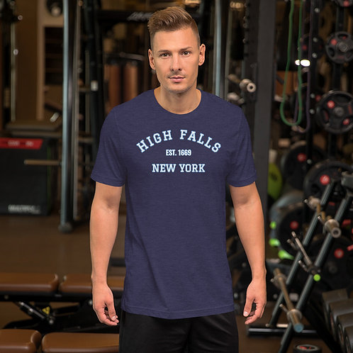 High Falls New York Est 1669 Unisex T-Shirt
