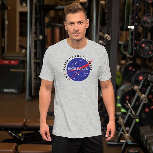 NASA inspired High Falls Center of the Universe Short Sleeved T-Shirt