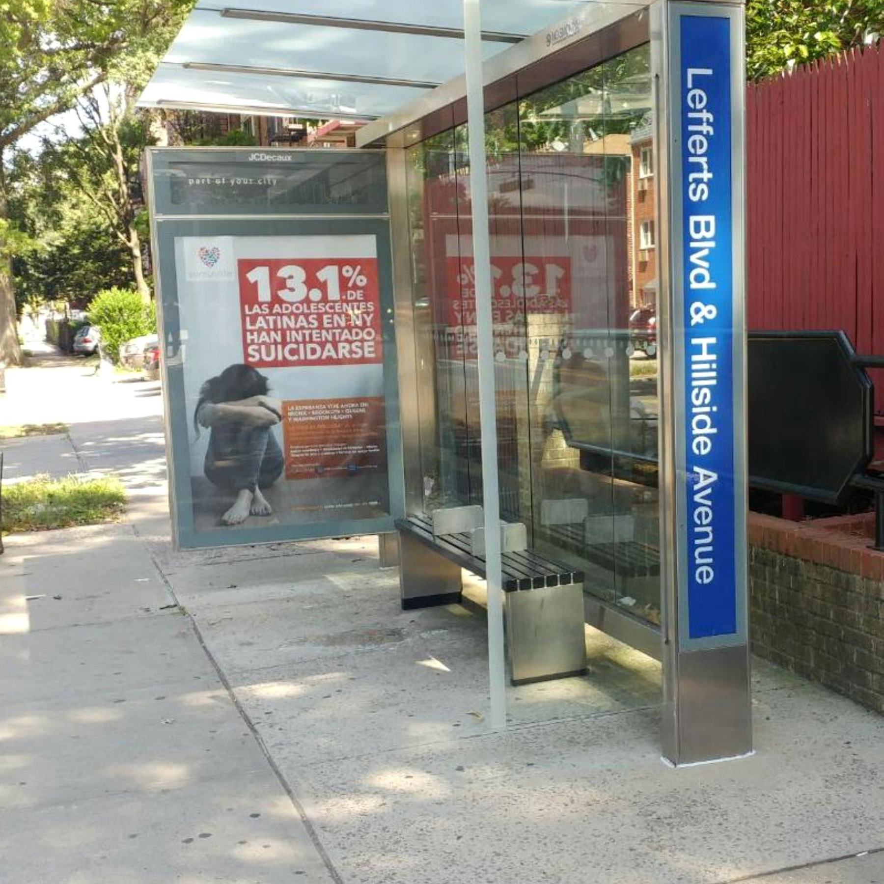 LIP Bus Shelter Campaign Lefferts Blvd a