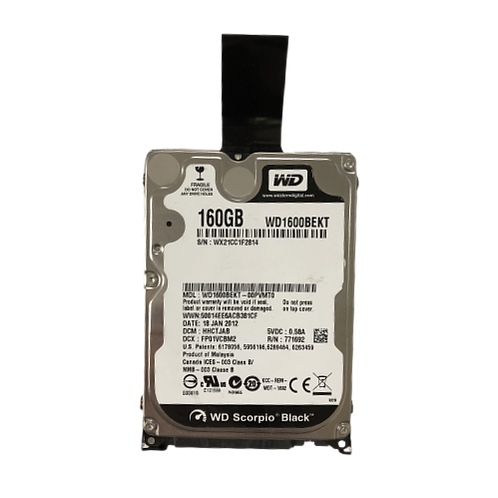 WD SCORPIO BLACK 160GB Hard Drive