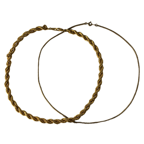 Two Gold Colored Necklaces