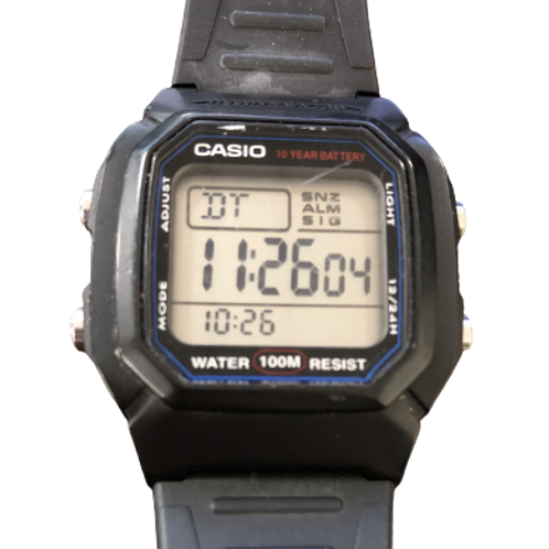 Black Casio Illuminator Watch