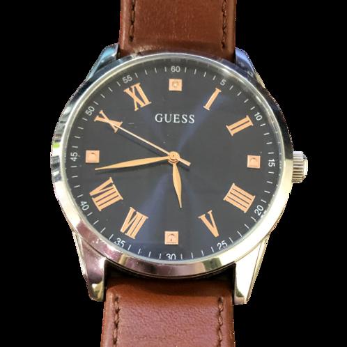 Reloj Guess para hombre con correa marrón