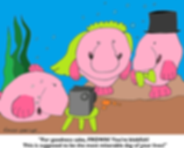 blobfish cartoon