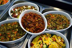 buffet de slades végétariennes