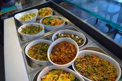 buffet de salades multicolores