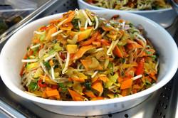 salade asiatique du buffet