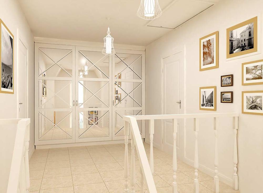 Дизайн интерьера холла в коттедже | студия VAKULENKODESIGN