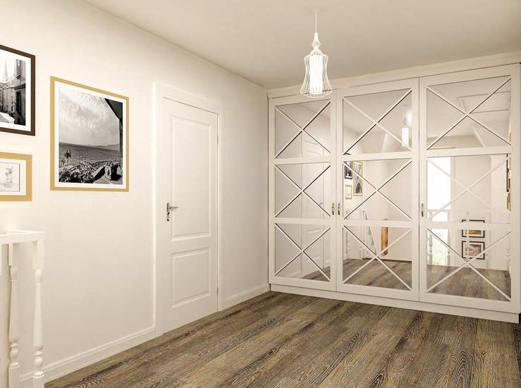 Дизайн холла на втором этаже