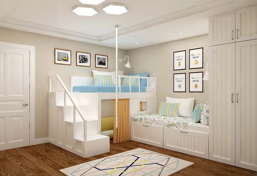Дизайн детской комнаты для двух