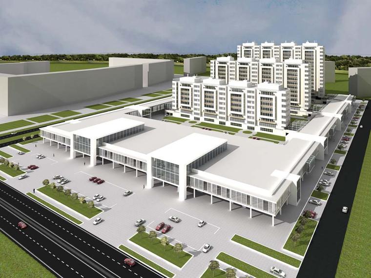 Проект фасада многоквартирного дома