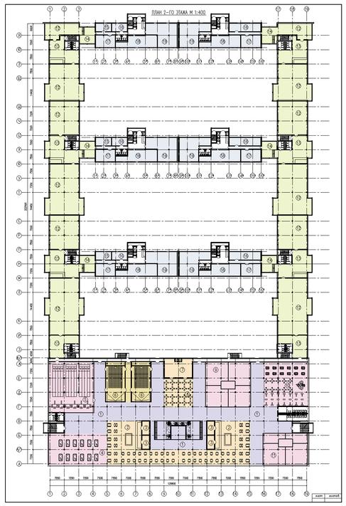 План 2-го этажа многоквартирного дома