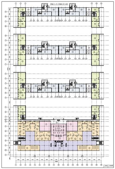План 1-го этажа многоквартирного дома