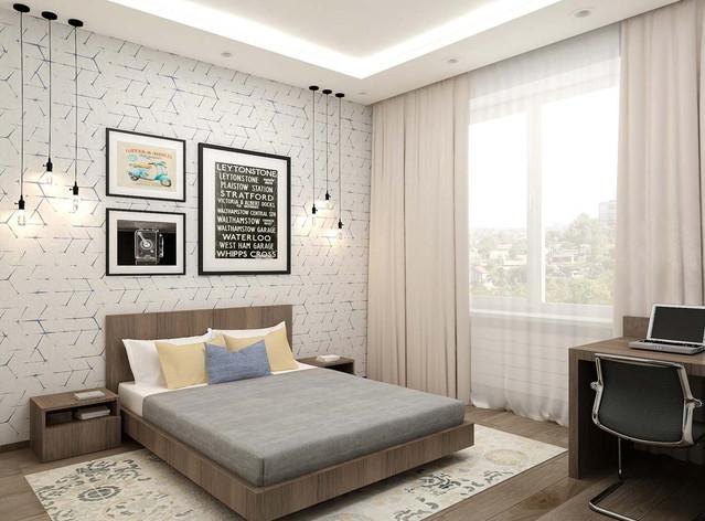 Дизайн спальни цвета венге фото