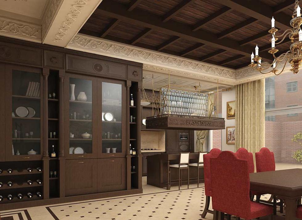 Кухня частный дом
