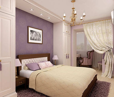 Дизайн спальни с ярким акцентом