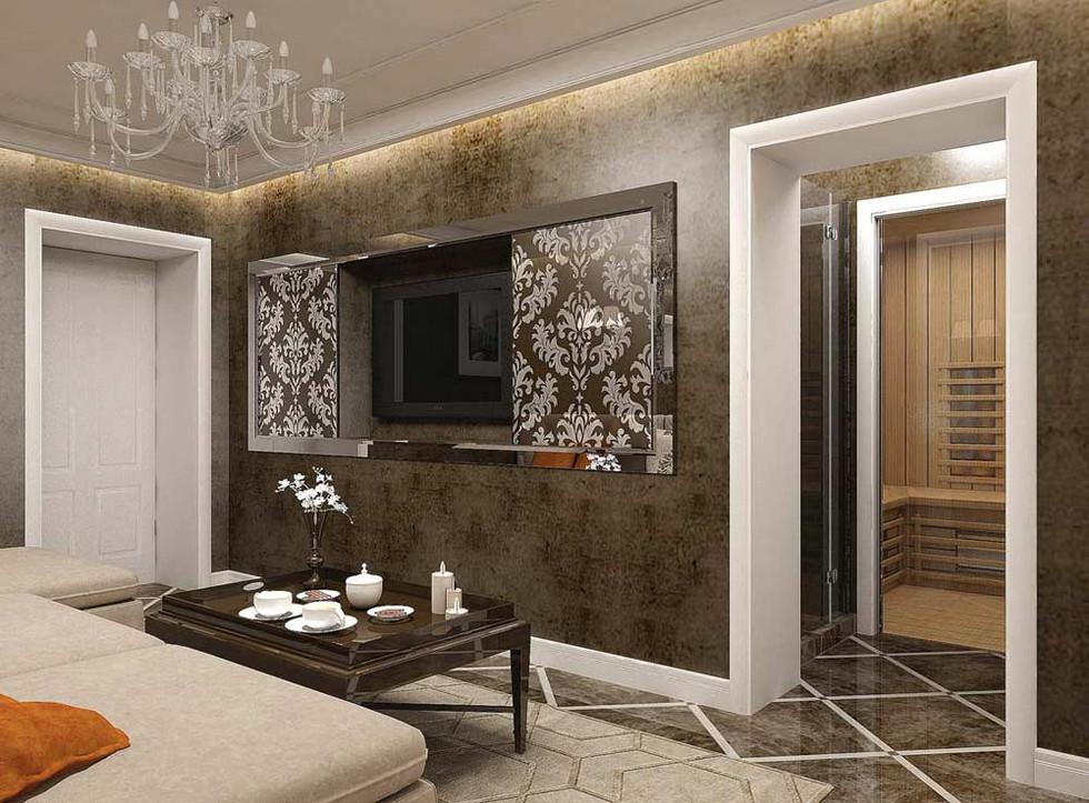 Дизайн квартиры с сауной
