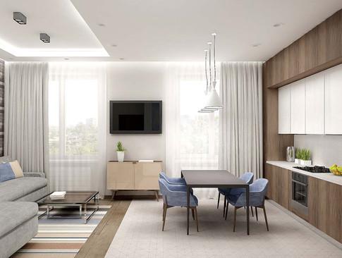 Светло серый диван в интерьере