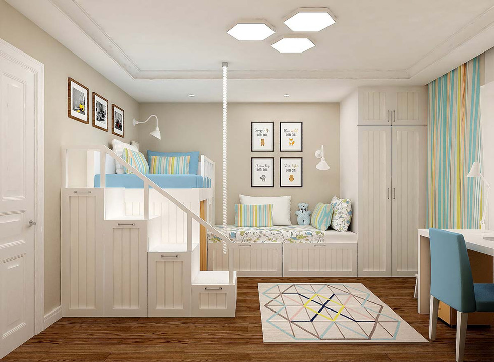 Дизайн детской для двоих детей