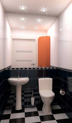 Дизайн туалета в салоне красоты