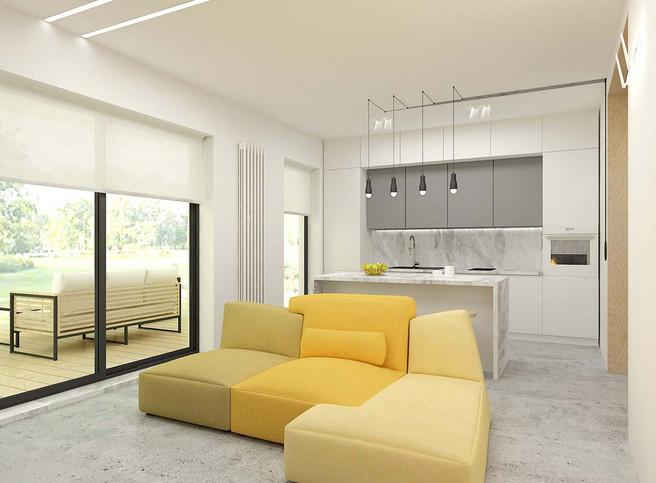 Дизайн кухни гостиной в коттедже