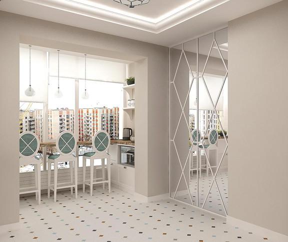 Дизайн кухни с балконом 10 кв м