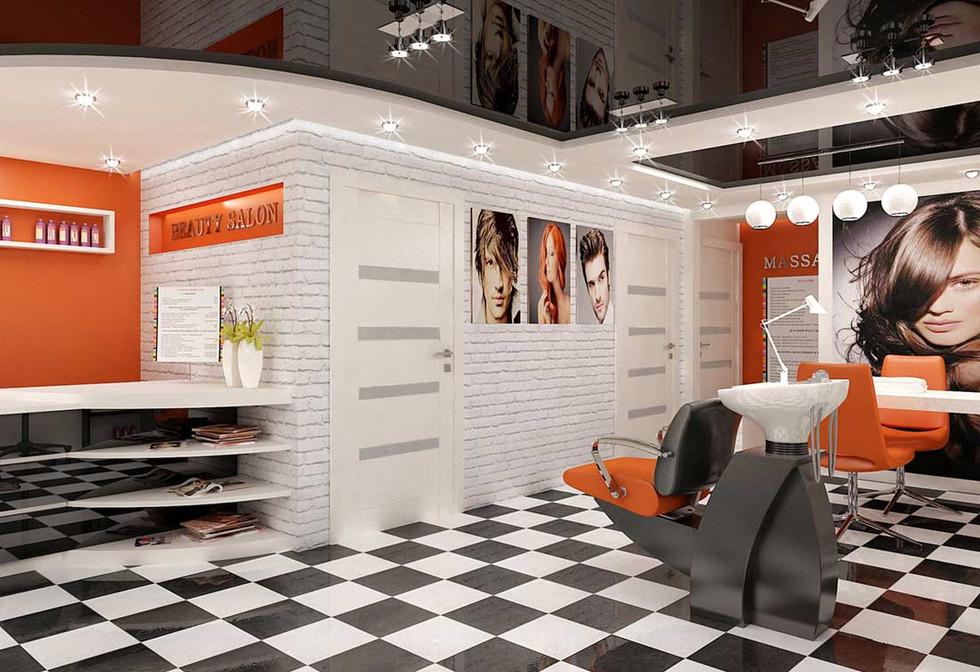 Интерьер салона красоты 3d