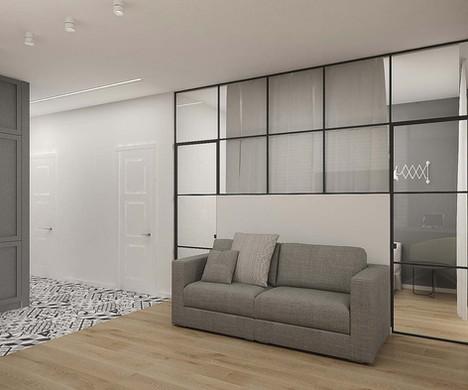 Стеклянная перегородка в дизайне квартиры