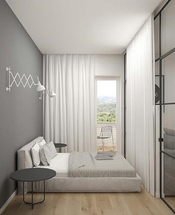 Дизайн спального места в маленькой квартире