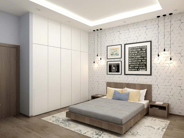 Обои в дизайне спальни