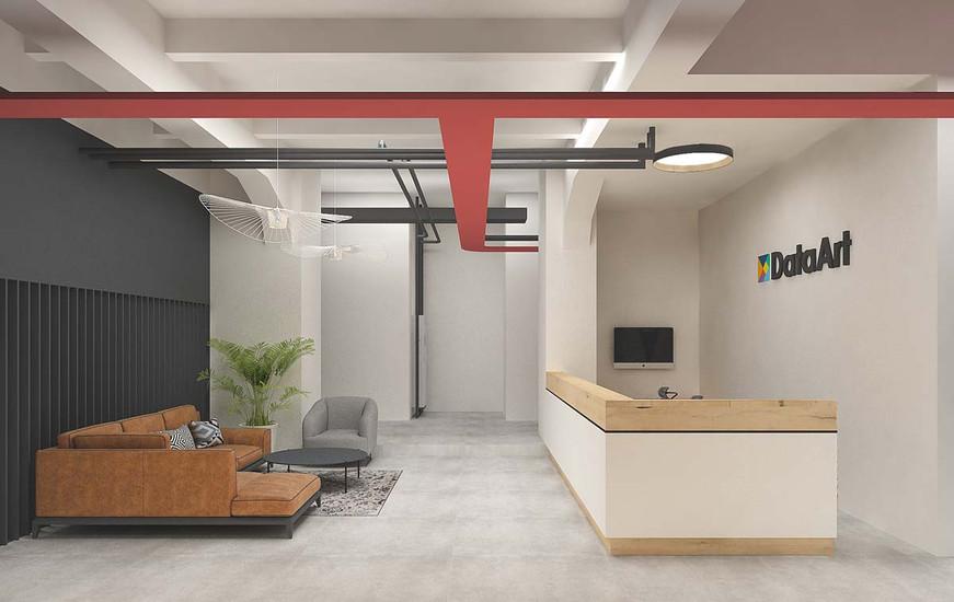 Дизайн холла в офисе